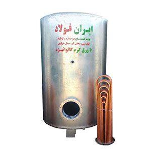منبع کویلدار ایستاده 600 لیتری ایران فولاد
